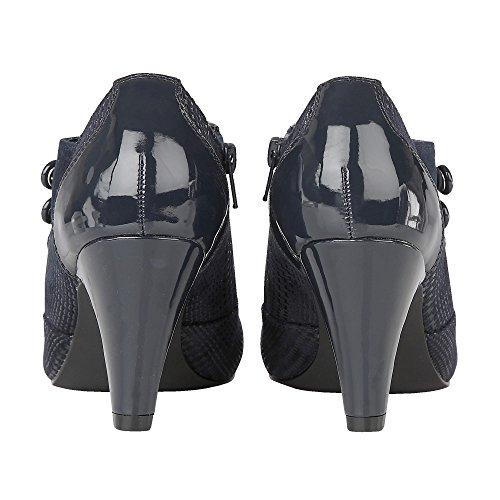 pour Femme Bottes Bleu Marine Lotus AZR5xzwzq