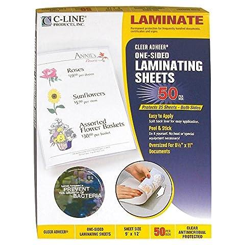 Vorhangschloss C-Line Heavyweight Cleer Bogen, transparent, antimikrobiell beschichtet 9 x 12-Inch (Box of 50) Sheet/Clear/Antimicrobial Protected