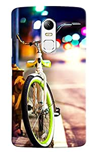 Omnam Cycle In City Printed Designer Back Cover Case For Lenovo Vibe X3