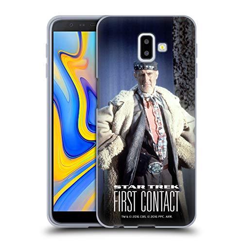 Head Case Designs Offizielle Star Trek Volles Kostüm Zefram Cochrane Der Erste Kontakt TNG Soft Gel Hülle für Samsung Galaxy J6 Plus ()