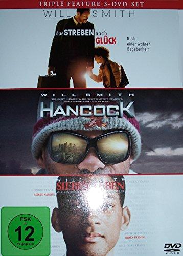 DVD Triple Feature Will Smith mit Das Streben nach Glück + Hancock + Sieben Leben 3x DVDs in Box -