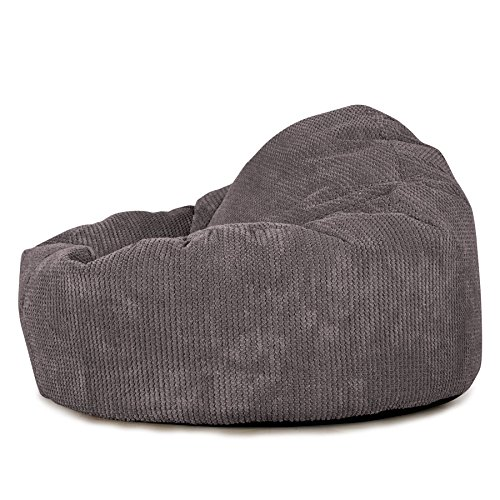 Lounge Pug®, Puff Pera 'Mini-Mamut', Pompón - Carbón Gris