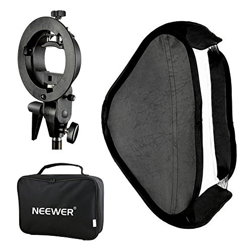 Neewer Photo Studio Multifunktionale 80 x 80 cm (32x32 Zoll) Softbox Diffusor mit S-Type Bügel Halterung, Tragetasche Set für Speedlite Blitzgerät Porträt - Porträt-studio-blitz