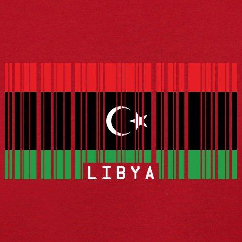 Libya / Libyen Barcode Flagge - Herren T-Shirt - 13 Farben Rot