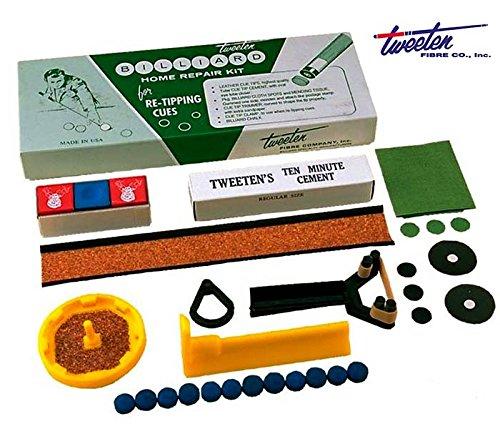 Home Repair Kit Tweeten Fibre USA per Stecca Biliardo Riparazione e Manutenzione Stecca e Panno Biliardo.