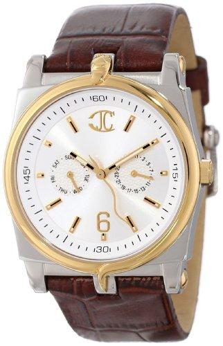 Just Cavalli 'Ular' Men's Analog Quartz Watch with Brown Leather Strap