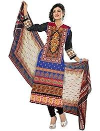 BalajiWomen's Cotton Unstitched dress material(1010-multicolor-free size)