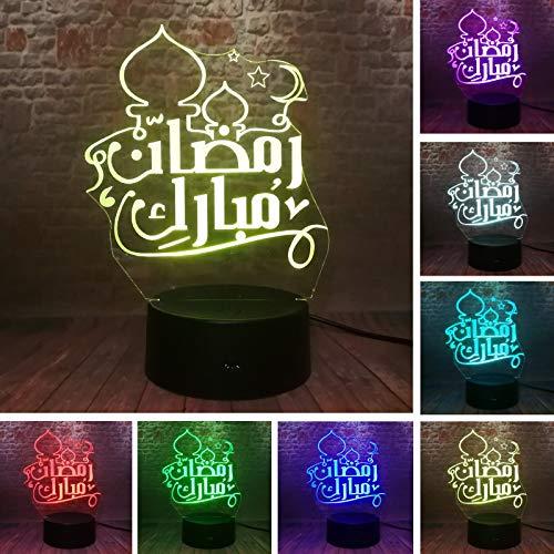 Kreative 3D EID Mubarak: Großhandel Islam Church LED Nachtlicht Tischlampe Eid Ramadan Party Decor Freunde Gläubiger Spielzeug Geschenke