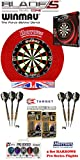 Unicorn Eclipse HD2 Pro + Harrows Surround rot + 2 Set Phil Taylor Darts + Abwurflinie + 5er Set Flights