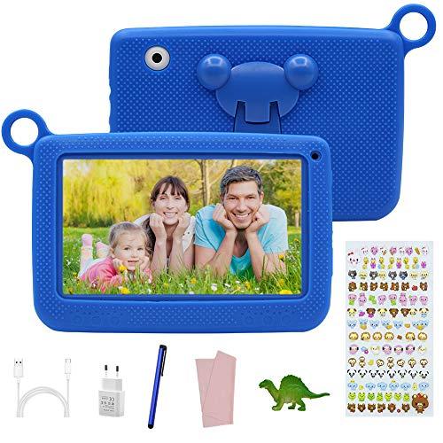 Tablet Bambini offerte 7 Pollici Touch Screen,Android 7.0, Tablet Educativo offerte 2GB RAM +32GB con Memoria,con Custodia in Silicone , Tablet PC con App per Bambini.