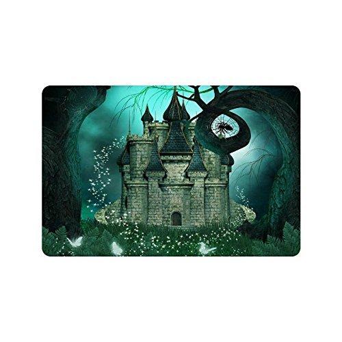 Magic Fantasy Castle Home Decor, Halloween Night Mystic Polyester-Bäume-Duschvorhang Badezimmer-Sets mit Haken 152,4x 182,9cm, Textil, multi, 23.6 X 15.7 inch (Halloween-badezimmer Sets)