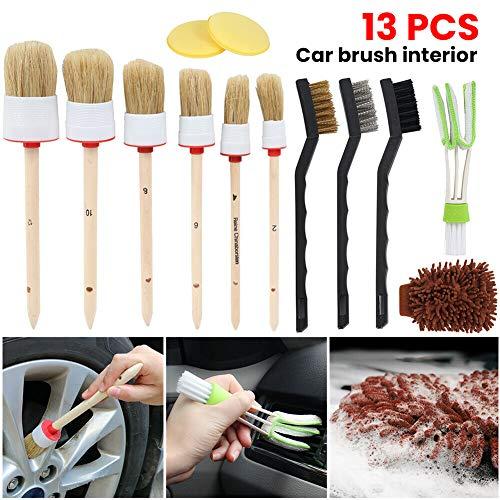 Semine 13 Teile/Satz Auto Detaillierung Pinsel Kit Fahrzeug Auto Innenraum Für Rad Reinigen Set - Innenraum Detaillierung Auto
