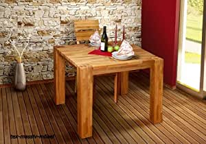 esstisch hugo esstisch tisch 100x100 cm eiche massiv ge lt fu 12x12 cm k che. Black Bedroom Furniture Sets. Home Design Ideas