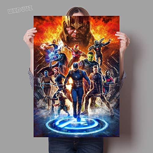 XWArtpic Craetive Classic American Superhero Movie Superpower Popular Poster Nursery Kids Room Wall...