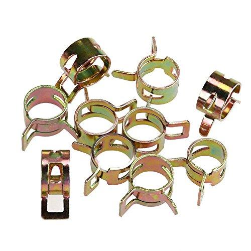 TOOGOO 75 Stueck/set 6-10mm Vakuum Fruehling Heizoel Wasser CPU Schlauch Clip Rohr fuer Band Clamp Metal Fastener Sortiment Kit -