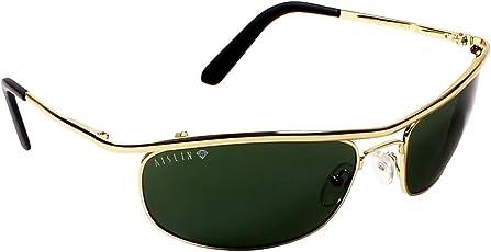 Aislin Non Breakable Oval Men's Sunglasses (62|Green)