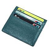Mcvilla Kreditkartenetui Kartenetui Echt Leder RFID-Blocking Geldbeutel Geldbörse Visitenkartenetui Scheckkatenetui Damen und Herren (HellBlau)