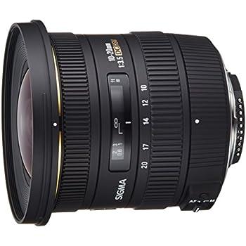 Sigma EX DC HSM NAF - Objetivo para Nikon (10-20mm, f/3.5, 82 mm), color negro