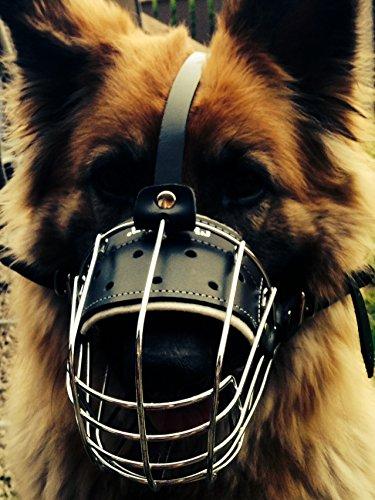 Nueva cesta de alambre de metal perro Bozal para pastor alemán Labrador...
