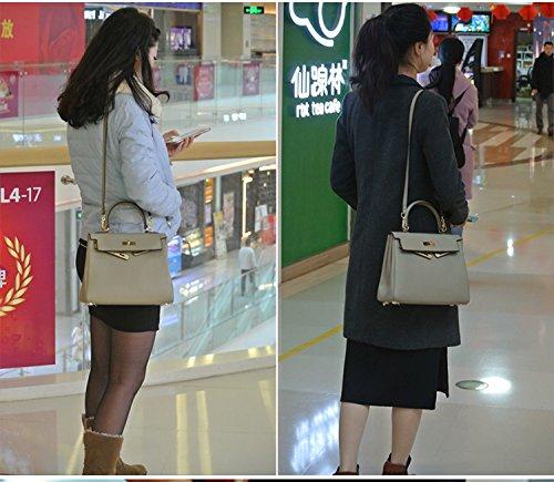 Primo strato in pelle borsa da donna borsa a tracolla Messenger Bag Multiuso MC ta-8030 arancione Orange Dark Green
