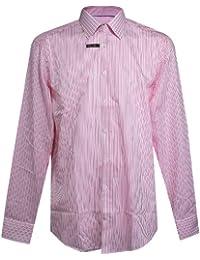 Venti, langarm Hemd, 131677400-400, weiss flamingo gestreift [14557]