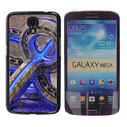 Planetar® ( Glass Pipe Weed 420 Purple Neon Color ) Samsung Galaxy Mega 6.3 / I9200 / SGH-i527 Handyhülle Schale Hart Silikon Hülle Schutzhülle Case