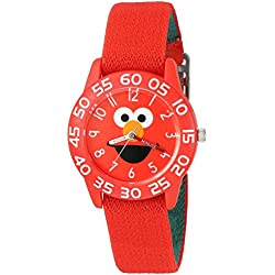 eWatchFactory Boy's 'Sesame Street' Quartz Plastic and Nylon Automatic Watch, Color:Red (Model: W003145)