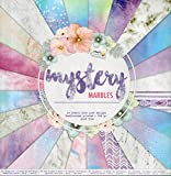 WSD Warenhandel Scrapbooking Papier Vintage Motivblock (29 - Mystery Marbles) Bastelpapier 250gr/qm - 48 Motive Grösse je 30,5 cm x 30,5 cm