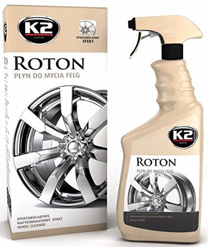 K2 Felgenreiniger spezial hochwirksam, mit Farbindikator, Stahl-, Alu-, Chrom-, und Lackfelgen Pumpflasche, Autoreinigung, Schmutzumwandler, Felgenreinigung 700ml