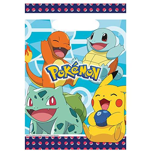 Amscan International Amscan 9904824 Party-Tüten, Pokemon, 8 Stück