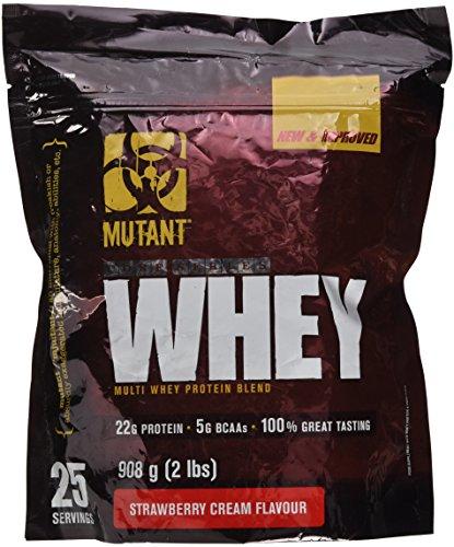 Mutant Whey - Xtreme Strawberry - 908g, 1er Pack (1 x 908 g) -