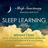 Weight Loss Sleep Learning: Block Cortisol & Stop Emotional Eating With Positive Affirmations & Binaural Beats