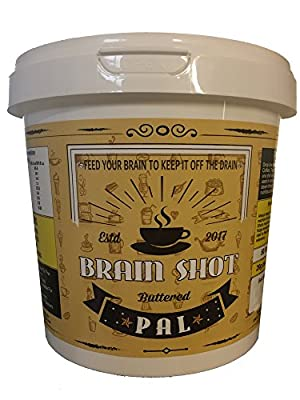 Brain Shot Pal - High Fat Low Carb Coffee Flavouring, 50 pcs 20g/pc Grass Fed Butter, Virgin Coconut Oil, Raw Honey Blackstrap Molasses, Complements Ketogenic Diet & Bulletproof Coffee As Creamer from Bagool Ltd.