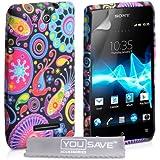 Sony Xperia E Tasche Sony Xperia E Mehrfarbig Silikon Gel Qualle Hülle