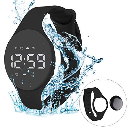 RCruning-EU Pulsera Actividad Impermeable IP68 Fitness Smartwatch Tracker Contador de Pasos, Contador de Calorías,Distancia niños Mujer Hombre - Non-Bluetooth Non-App-Black