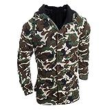 IMJONO Herren Herbst Winter Camouflage Wind Männer Hooded Coat Bluse (EU-44/CN-M,Camouflage)