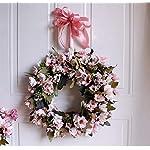 SPFAZJ Corona di Natale Simulazione Garland Porta Ornamenti murale Matrimonio Natale Ringraziamento Margherita Anello