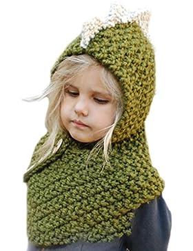 SunnyJenny Wolle Gestrickte Hüte Kinder Junge Mädchen Schalmütze Tier Mütze Fox gestrickte Wolleschal-Kappen-Hüte