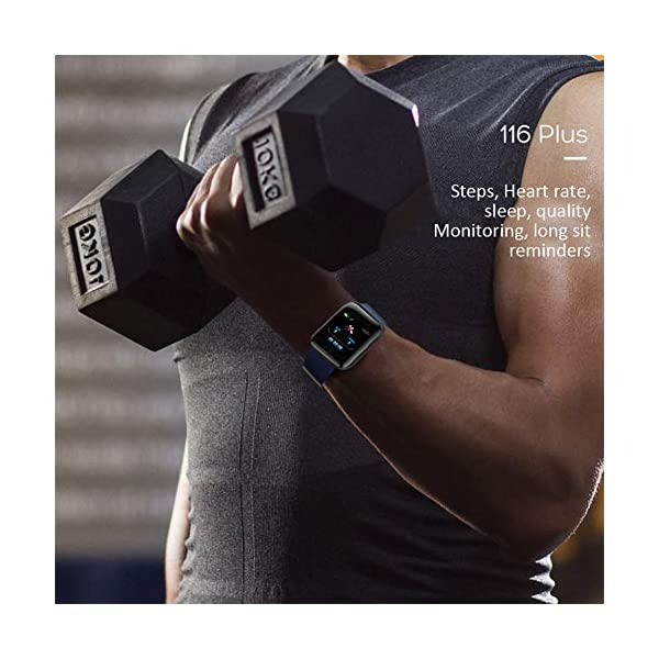 Reloj Smart Fitness Tracker, Reloj Inteligente a Prueba de Agua IP67 con Monitor de sueño con Contador de Pasos, Reloj… 5