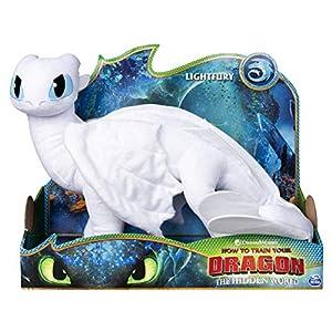 Dreamworks Dragons Lightfury 6052953 - Peluche de dragón para niños a Partir de 4 años, 36 cm de Altura, Multicolor