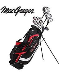 MacGregor Herren Golfset CG2000 Steel Stand Bag Set, Schwarz/Rot, 6-SW