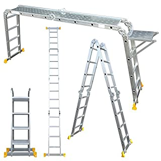 Abbey Aluminium Multi-Purpose Ladder 4.4m with New Safety Platform MPL44