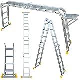 Abbey Aluminium Multi-Purpose Ladder 4.7m With New Safety Platform