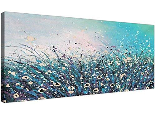 Wallfillers® - Lienzo moderno colores turquesa crema