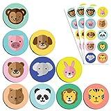 TownStix Animali Adesivi per Bambini (Cani, Gatti, Leoni, Elefanti) - 10 Disegni, 200 Pezzi