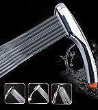 Joyoldelf Wassersparen Duschkopf Handbrause mit 300 Löcher Badezimmer Turbodruck - Verchromt