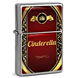 PhotoFancy® - Sturmfeuerzeug Set mit Namen Cinderella - Feuerzeug mit Design Wappen 1 - Benzinfeuerzeug, Sturm-Feuerzeug