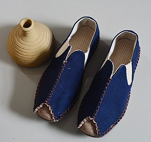 Tianrui Crown , Sandales Plateforme homme Bleu