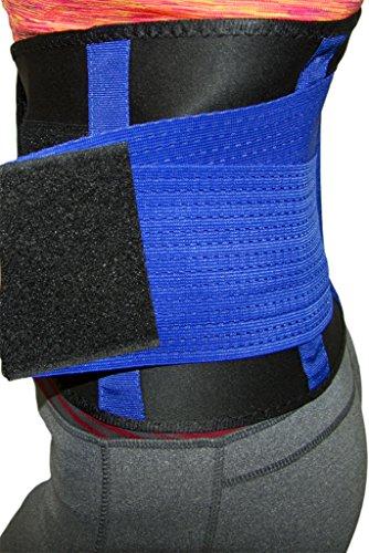 Bonvie.shop Sport Fitness Bauchweggürtel Abnehmen Schwitzgürtel für Männer und Frauen (Blau/Schwarz, S)