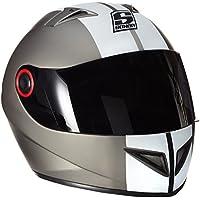 SOXON ST-666 Deluxe Titan Casco Integrale Urbano Moto Sport Helmet Urban Scooter Cruiser, ECE Certificato, Compresi Sacchetto Portacasco, Grigio (Titan), S (55-56cm)